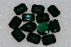 "MBA #S25-196   ""Vintage Lot Of 12 Dk Green Faceted Large Glass Rhinestones"""
