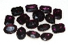 "MBA #S25-204   ""Vintage Lot Of 15 Dark Purple Faceted Large Glass Rhinestones"""