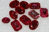"MBA #S25-170   ""Vintage Lot Of 11 Pink Large Faceted Glass Rhinestones"""