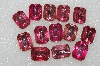 "MBA #S25-167   ""Vintage Lot Of Pink Faceted Large Glass Rhinestones"""