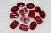 "MBA #S25-164   ""Vintage Lot Of Pink Faceted Large Glass Rhinestones"""