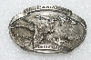 "MBA #S25-239   ""Vintage Bergamot  Pewter 1983 ""The Canadian Goose"" Belt Buckle"""