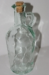 "**MBA #S29-103   ""1980's Green Glass Pitcher With Cork Top"""