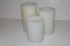 "MBA #S30-359   ""Candle Impressions Set Of 3 Flameless Vanilla Scented Candles"""