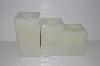 "MBA #S30-367   ""Set Of 3 Candle Impressions Square Flameless Vanilla Scented Candles"""