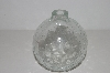 "*MBA #S30-213   ""Clear Cracked Glass Look Hand Blown Glass Oil Lamp"""
