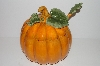 "+MBA #S30-168   ""Older Large Pumpkin Shaped Soup Tureen With Matching Ladle"""