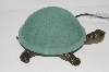 "MBA #S30-086   ""2003 Green Lighted Crackle Turtle Accent Lamp"""
