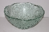 "MBA #S30-187   ""Older Large Green Glass Daisy Bowl"""