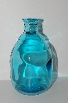 "MBA #S13-221   ""2004 Reproduction Aqua Blue Glass Bud Bottle Vase"""