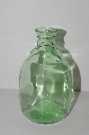 "MBA #S13-215   ""2004 Reproduction Green  Glass Bud Bottle Vase"""