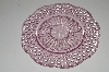 "MBA #S13-162  ""Beautiful Pink Hobnail Embossed Glass Serving Plate"""