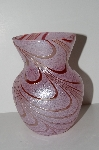 "MBA #S28-355   ""Fancy Pink & Red Art Glass Vase"""