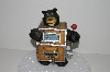 "**MBA #S28-024   "" 2005 Older Carved Resin Black Bear Slot Machine Bank"""