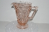 "**MBA #S28-045   ""Beautiful Fancy Pink Depression Glass Pitcher"""