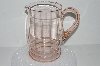 "**MBA #S28-055   ""Pale Pink Depression Glass Pitcher"""