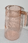 "**MBA #S28-082   ""Arcoroc France Pink Depression Glass Pitcher"""