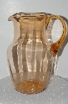 "**MBA #S28-087   ""Vintage Pink Depression Glass Water Pitcher"""