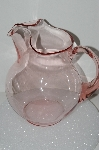 "**MBA #S28-100    ""Vintage Pink Depression Glass Water Pitcher"""