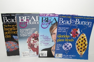 "MBA #S31-066 ""Older Set Of 4 Bead & Button Magazines"""