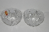 "MBA #S31-164   ""Set Of 2 Anna Huitte Crystal Bleikristall Rose Bowls"""