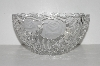 "MBA #S31-260   ""Older Anna Hutte Crystal Large Rose Fruit Bowl"""