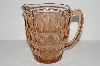 "MBA #S31-152   ""Pink Depression Glass Diamond Pattern Water Pitcher"""