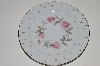 "+MBA #S18-101  Set Of 6     ""Charmaine By Sango Pink Roses With Platinum Trim Salad Plate"""