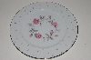 "+MBA #S18-115  Set Of 7      ""Charmaine By Sango Pink Roses & Platinum Trim Dinner Plate"""