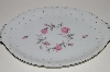 "+MBA #S18-137    ""Charmaine By Sango Pink Roses & Platinum Trim Large Oval Serving Platter"""