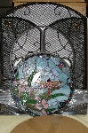 "MBA #S19-070    ""Tiffany Style Dragonfly Fireplace Screen"""