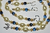 "MBA #B2-006  ""Yellow Glass Pearl & Crystal Necklace & Earring Set"""