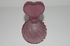 "**MBA #B4-3056  ""Vintage Purple Frosted Glass Perfume Bottle"""