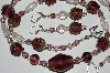 "MBA #B5-072  ""Purple Glass Berry & Crystal Necklace & Matching Earring Set"""