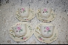 +MBA #6849  8 Piece Set  Bavarian Style Tea Cups & Saucers