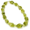 "MBA #B6-219  ""14K White Gold Green Quartz Crystal Necklace"""