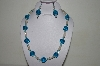 "MBAHB #19-439  ""Aqua Blue Glass, Luster Clear Glass & AB Clear Necklace & Earring Set"""