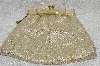 "MBA #FL7-043     ""Vintage Gold Fabric Clutch With Chain"""
