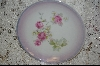 **Hand Painted Small Pink Rose Plate