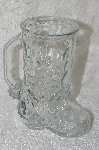 "MBA #FL7-037  ""Clear Made In Canada Glass Cowbot Boot Mug"""