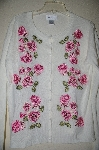 "MBADG #13-039  ""Chadwicks White Pink Rose Embroidered Sweater"""