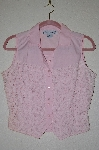 "MBADG #5-263  ""Adobe Rose Fancy Lace Front Pink Cotton Shirt"""