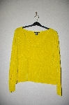 "MBADG #9-044  ""Boston Proper Bright Yellow Chenille Pull Over Sweater"""