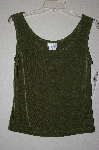 MBADG #9-075  The Travel Collection Olive Green Stretch Tank""