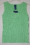 "MBADG #9-118  ""Basic Editions Green Knit Tank"""