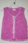 "MBADG #9-134  ""Rico Pink Knit Lace Up Tank"""