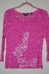 "MBADG #52-310  ""Feratelli Pink Fancy Embroidered Floral Sweater"""