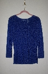 "MBADG #52-267  ""French Laundry Blue Fancy Knit Sweater"""