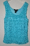 "MBADG #52-252  ""Peck & Peck Tq Blue Crochet Fully Lined Tank"""
