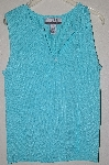 "MBADG #52-249  ""Nine & Company Button Front Blue Knit Tank"""
